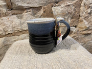 Pottery Mugs with thumbprint on handle in assorted colors by HHH