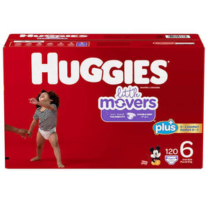 Huggies Plus Diapers Sizes 1 - 6 (Count 120-192)