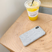 Grey Linen Phone Case