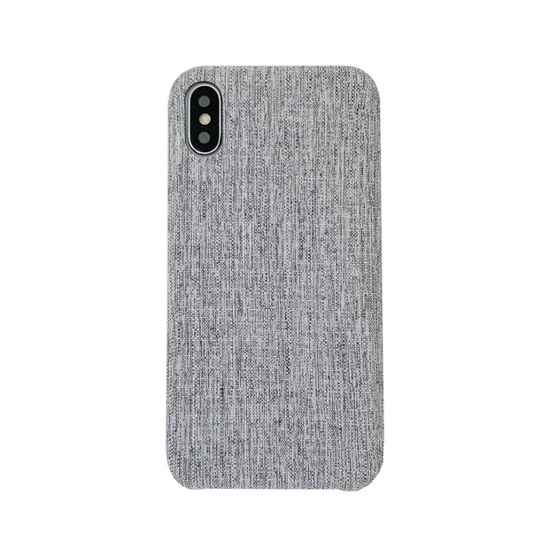 Grey Linen iPhone Case