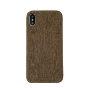Brown Linen iPhone X Case
