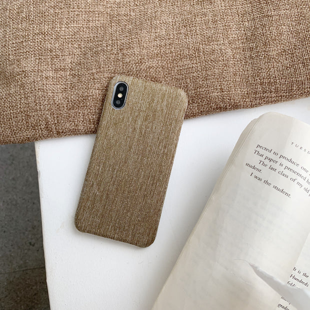 Brown Linen iPhone Case