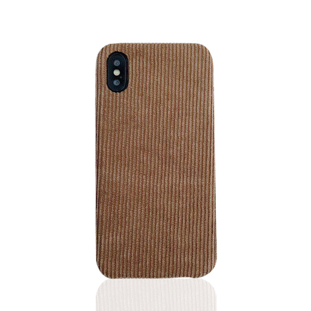 Brown Corduroy iPhone X Case Design