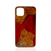 Wood & Resin Red iPhone Case