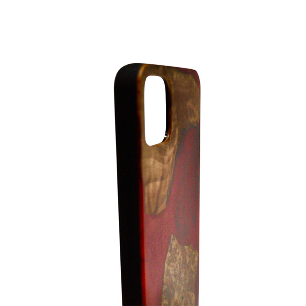 Durable natural Wood and Resin Phone Case