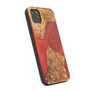 Hand Carved Natural Wood & Resin Case