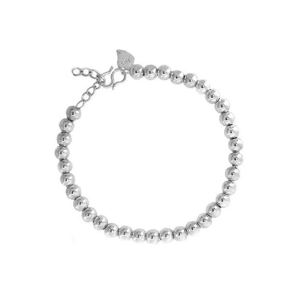 minimal Bead Chain Bracelet in sterling silver by Ma Petite Mer Jewelry