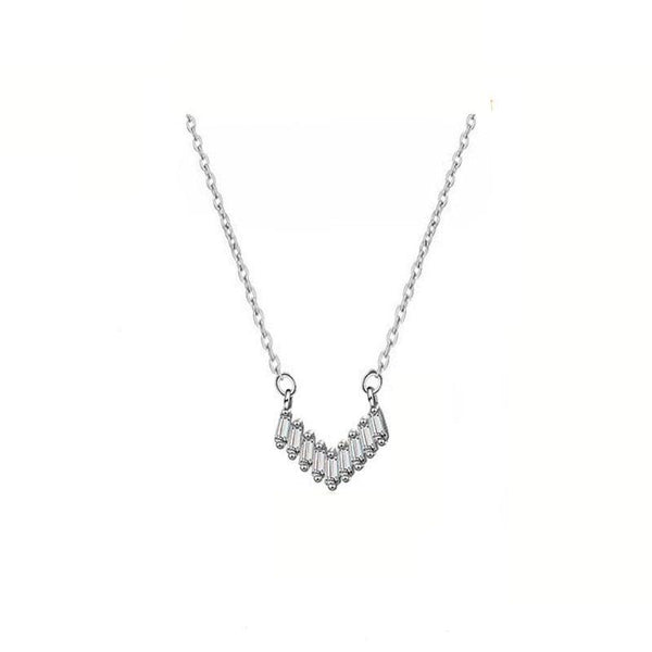 Stylish Chevron Necklace in sterling silver by Ma Petite Mer Jewelry