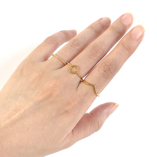 Chevron Ring in 18K gold plated sterling silver by Ma Petite Mer Jewelry