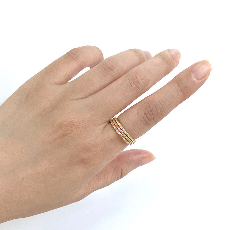 Eternity Ring in 18K gold plated sterling silver by Ma Petite Mer Jewelry