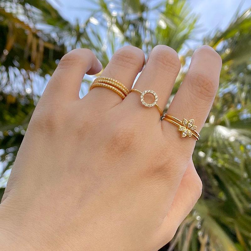 stackable rings in 18K gold plated sterling silver by Ma Petite Mer Jewelry
