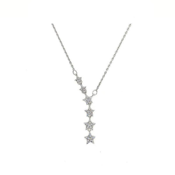 Falling Stars Necklace in sterling silver by Ma Petite Mer Jewelry