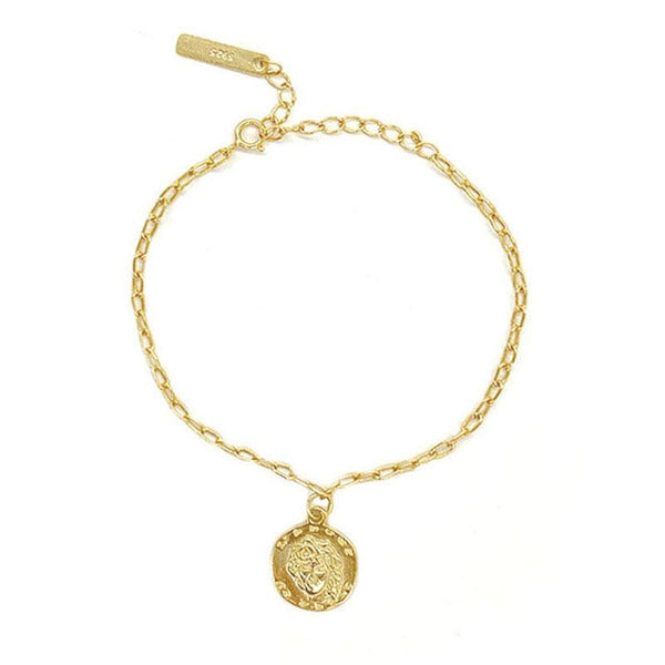 simple and classy Greek Coin Bracelet in 18K gold plated sterling silver by Ma Petite Mer Jewelry
