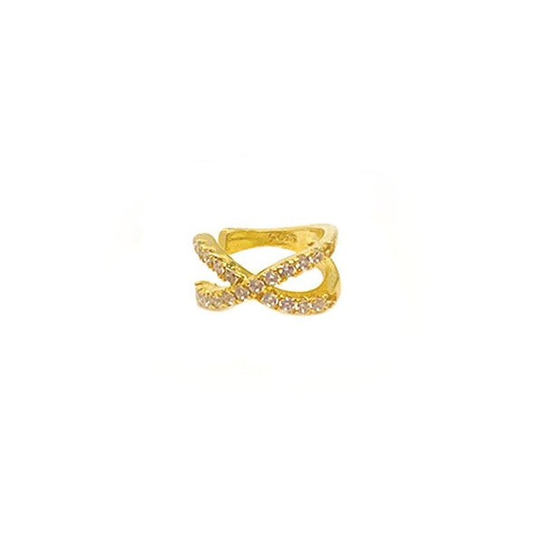 Infinity Cuff Earring in 18K gold plated sterling silver by Ma Petite Mer Jewelry