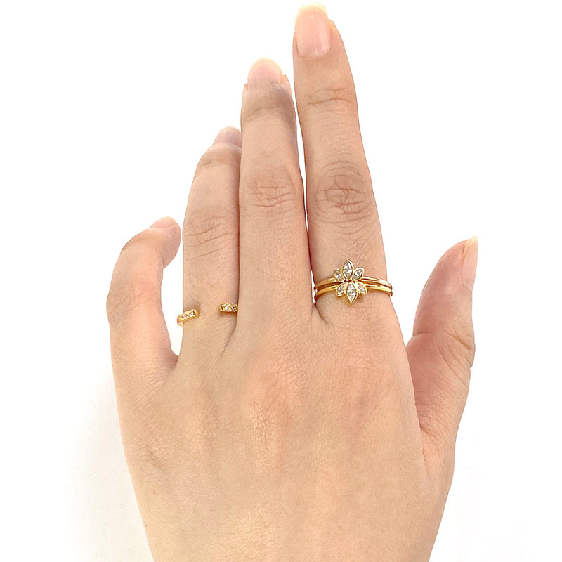 Interstellar Ring in 18K gold plated sterling silver by Ma Petite Mer Jewelry
