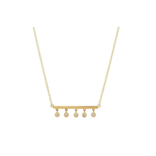 Simple and dainty Iris Bar Necklace in 18K Gold Plated Sterling Silver by Ma Petite Mer Jewelry