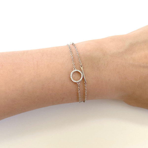 Layered Eclipse Bracelet in sterling silver by Ma Petite Mer Jewelry