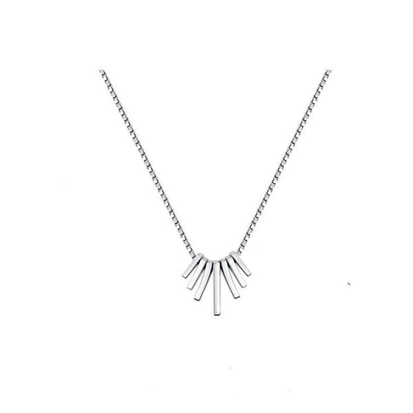simple and stylish Luna Necklace in sterling silver by Ma Petite Mer Jewelry