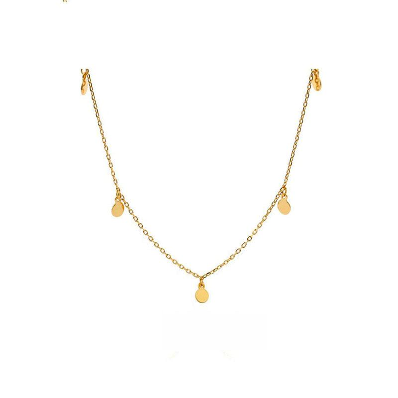 Simple yet stylish Mini Disk Necklace in 18K Gold Plated Sterling Silver by Ma Petite Mer Jewelry