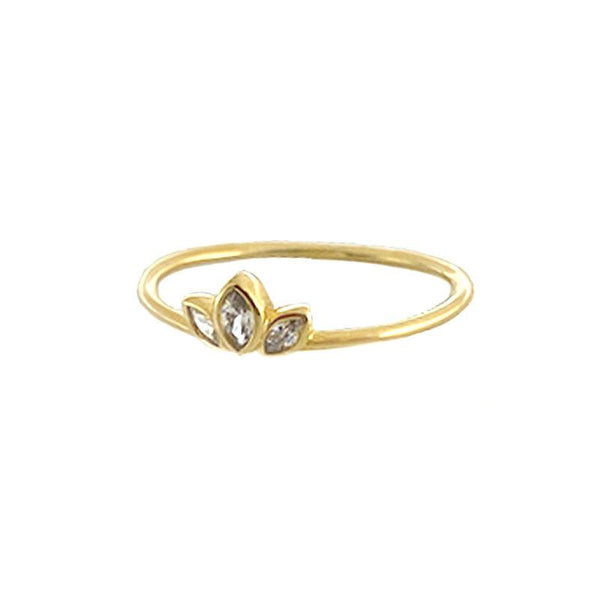 Petal Ring in 18K gold plated sterling silver by Ma Petite Mer Jewelry