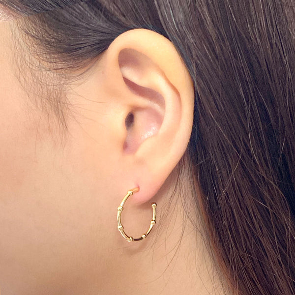 Satellite Stud Earrings in 18K gold plated sterling silver by Ma Petite Mer Jewelry