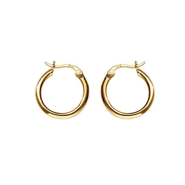 Simple Hoop Earrings in 18K Gold Plated Sterling Silver by Ma Petite Mer Jewelry