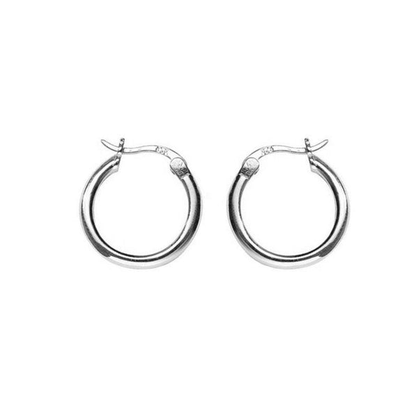 Simple Hoop Earrings in Sterling Silver by Ma Petite Mer Jewelry