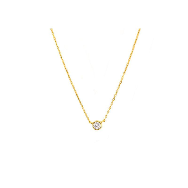 dainty Solo Necklace in 18K gold plated sterling silver by Ma Petite Mer Jewelry