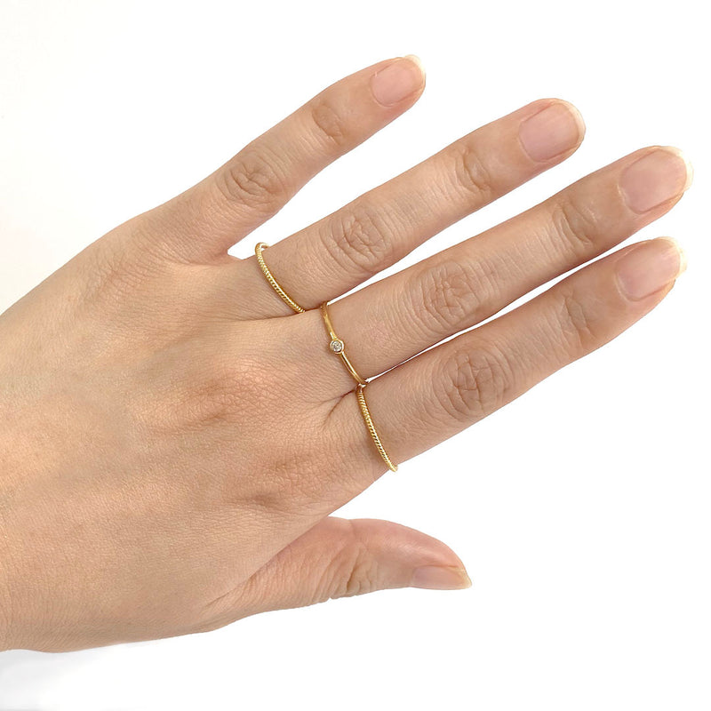Solo Ring in 18K gold plated sterling silver by Ma Petite Mer Jewelry