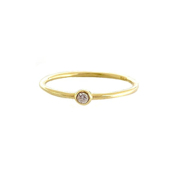 dainty Solo Ring in 18K gold plated sterling silver by Ma Petite Mer Jewelry