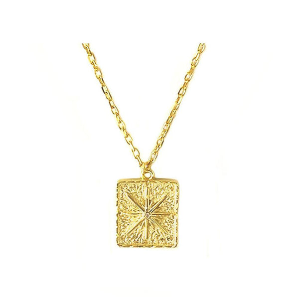 Star Fossil Pendant Necklace in 18K gold vermeil by Ma Petite Mer Jewelry