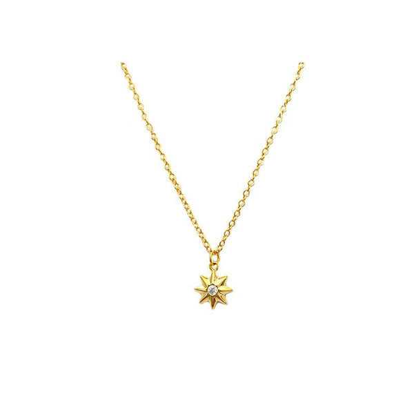 dainty Starburst Necklace in 18K gold plated sterling silver by Ma Petite Mer Jewelry