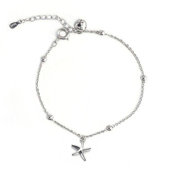 minimal style Starfish Bracelet in sterling silver by Ma Petite Mer Jewelry