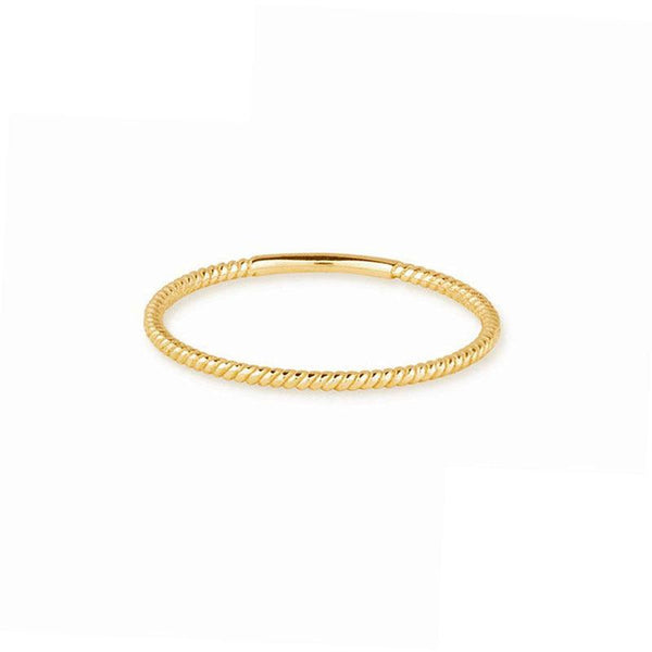 Thin Twist Ring in 18K gold plated sterling silver by Ma Petite Mer Jewelry