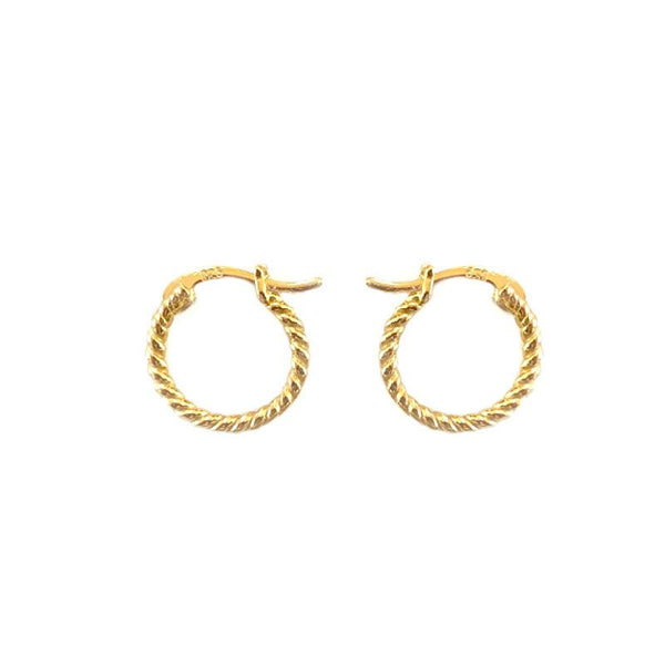 Twirl Hoop Earrings in 18K gold plated sterling silver by Ma Petite Mer Jewelry