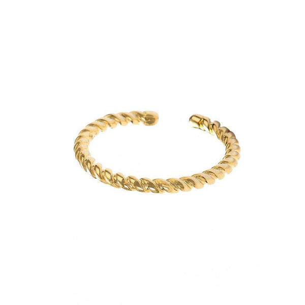 Twist Ring in 18K gold plated sterling silver by Ma Petite Mer Jewelry
