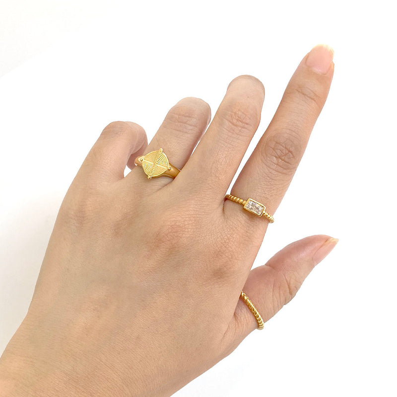 18K gold plated sterling silver rings by Ma Petite Mer Jewelry