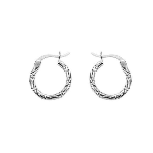 Twisted Hoop Earrings in sterling silver by Ma Petite Mer Jewelry