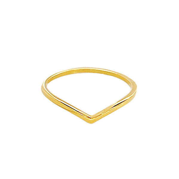 minimal Chevron Ring in 18K gold plated sterling silver by Ma Petite Mer Jewelry