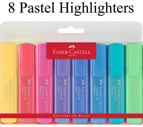 Faber-Castell - Textliner 46 Pastel Highlighters - set of 8