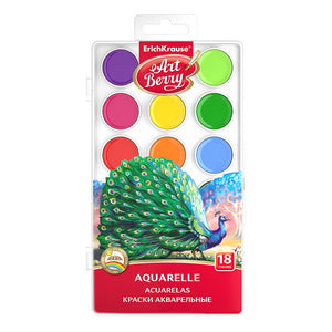 Erich Krause Watercolors ArtBerry with UV Protection 18 colors