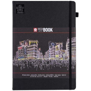 Sakura Sketch Notebook Black | 21cm x 30cm