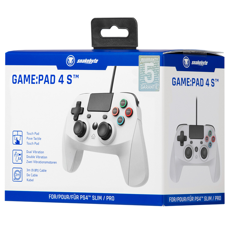 SONY PS4 GamePad Game Pad 4 S Grey Controller snakebyte