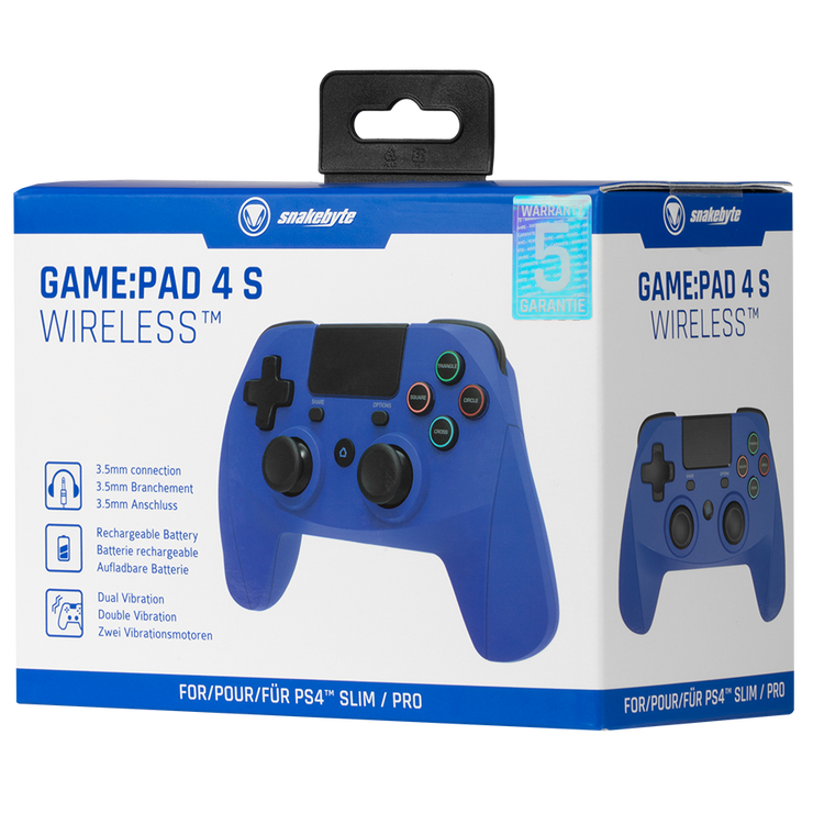SONY PS4 GamePad Game Pad 4 S Wireless Blue Blau snakebyte