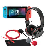 Nintendo Switch Gamer Kit S Sound and Projetect Kopfhörer Headset Cable Kabel Caps Tuch Screenshield snakebyte