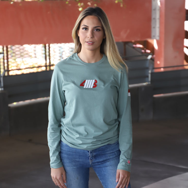 OLIVE GREEN DEFINE LONG SLEEVE TEE