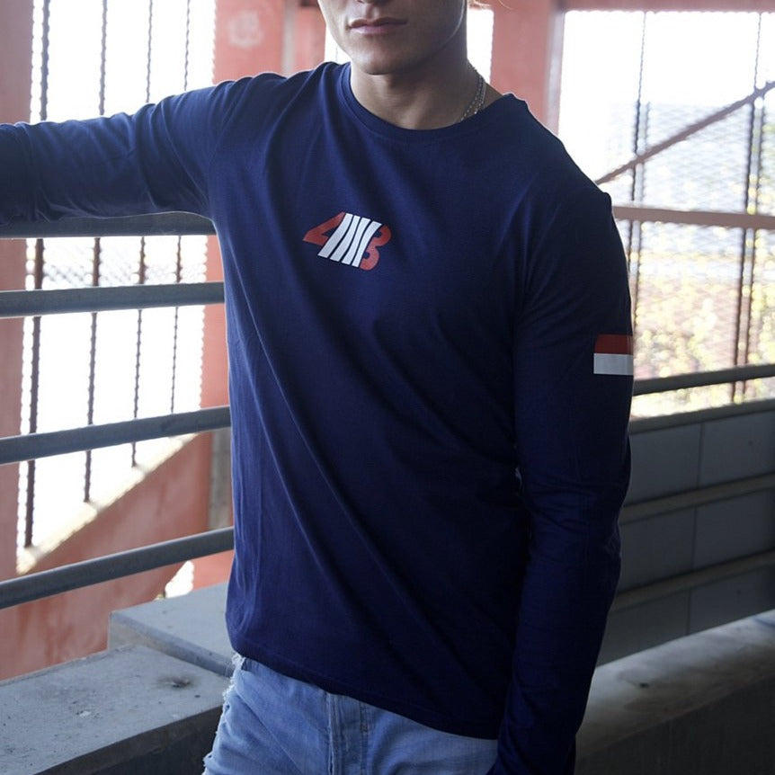 NAVY BLUE DEFINE LONG SLEEVE TEE
