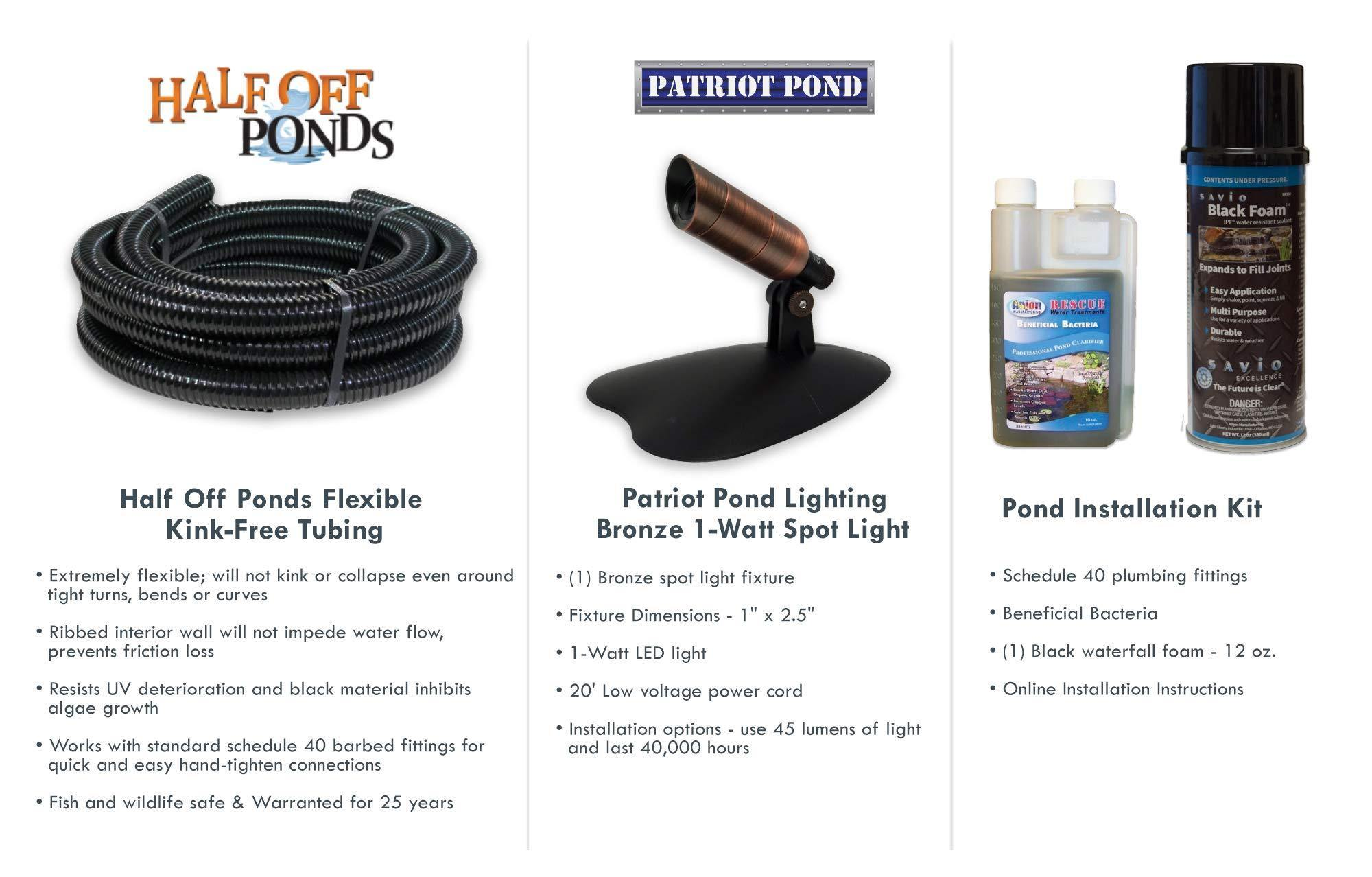 HALF OFF PONDS Savio Select 3000 with UV Complete Water Garden and Pond Kit