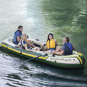Intex Seahawk 4 Inflatable Boat Set with Aluminum Oars