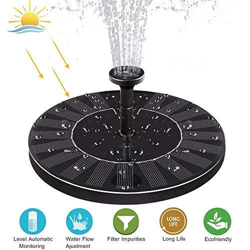 Solar Fountain Bird Bath by XYSQWZ
